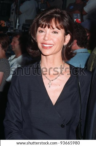 "04AUG97:  Actress VICTORIA PRINCIPAL at the premiere of  ""Conspiracy Theory,"" in Los Angeles.  The movie stars Mel Gibson & Julia Roberts."