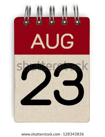 23 august calendar - stock photo