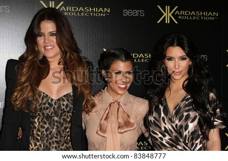 17 August 2011 - Hollywood, California - Khloe Kardashian, Kourtney Kardashian, and Kim Kardashian. Kardashian Kollection Launch Party Held at The Colony. Photo Credit: Kevan Brooks/AdMedia