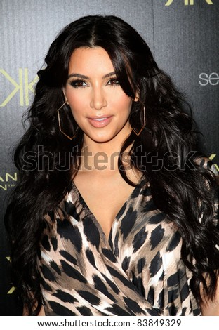 17 August 2011 - Hollywood, California - Kim Kardashian. Kardashian Kollection Launch Party Held at The Colony. Photo Credit: Kevan Brooks/AdMedia - stock photo