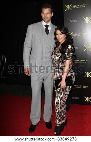 17 August 2011 - Hollywood, California - Kris Humphries and Kim Kardashian. Kardashian Kollection Launch Party Held at The Colony. Photo Credit: Kevan Brooks/AdMedia - stock photo