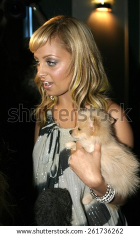 19 August 2004 - Hollywood, California - Nicole Richie. Pelle Pelle's Celebrity Catwalk for charity hosted by Nicole Richie at the Palladium in Hollywood.  - stock photo