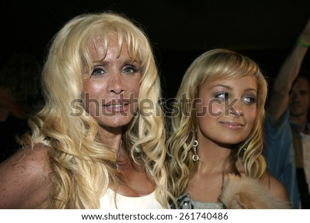 19 August 2004 - Hollywood, California - Victoria Gotti and Nicole Richie. Pelle Pelle's Celebrity Catwalk for charity hosted by Nicole Richie at the Palladium in Hollywood.  - stock photo