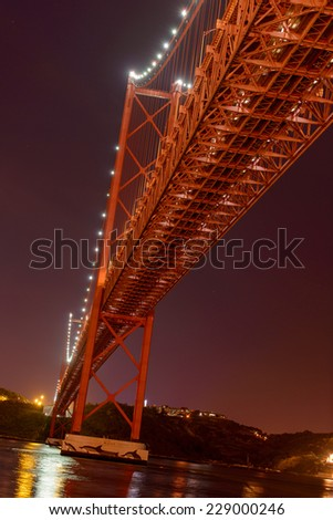 23 Avril bridge at night long exposure - stock photo