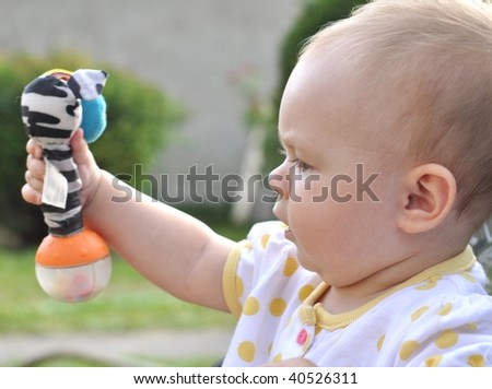 baby - first step - stock photo