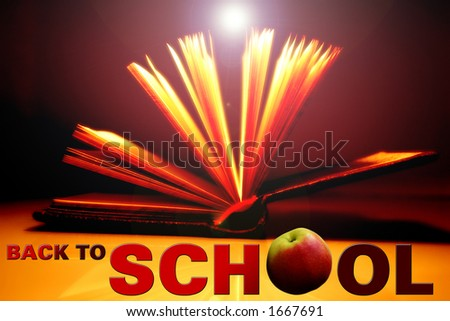 """""""Back to School"""" background - stock photo"""