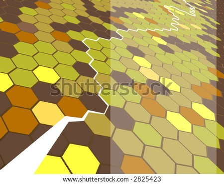 Background featuring hexagons. Raster version - stock photo
