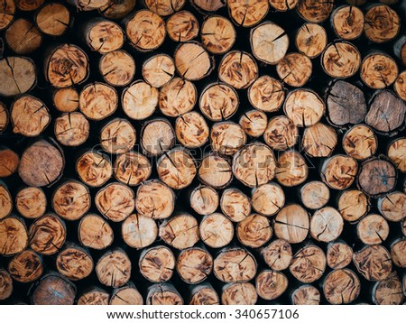 ?Background of a pile of cut timber