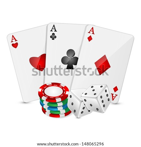background with casino elements on a white background.raster