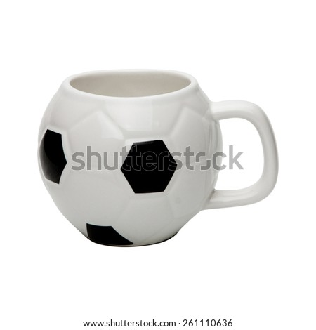 Ball coffee cup isolated with clipping path included - stock photo