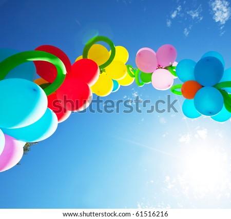 balloons on festival - stock photo