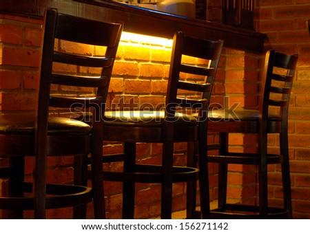 bar stools  - stock photo