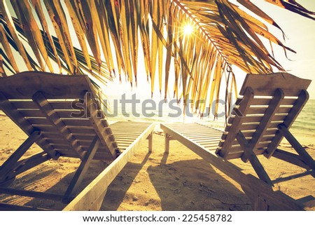 beach scene - stock photo