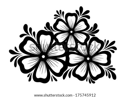 Flower Frame Black And White Black And White Flowers And