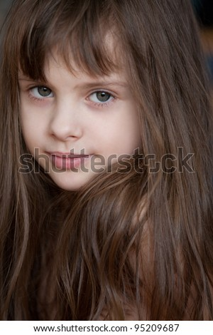 beautiful little girl. - stock photo