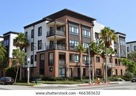 Beautiful Modern Apartment Buildings In Playa Vista, CA.