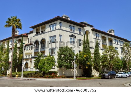 Beautiful Modern Apartment Buildings In Playa Vista, CA.