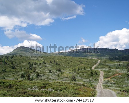 Beautiful mountain landscape Norway - stock photo