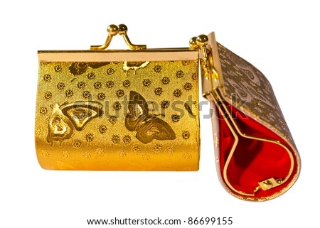 Beautiful purse pattern. Butterfly gold