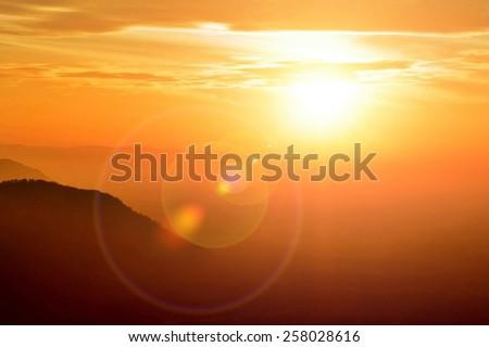 Beautiful sky view fair sun light   - stock photo