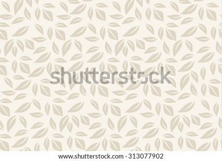 beige leaf seamless pattern. leaves background can be used for wallpaper, fills, web page, surface textures. raster version - stock photo
