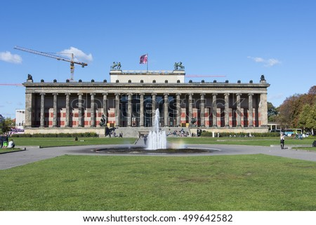 Berlin, Germany, October 6, 2016 The Altes Museum in Berlin