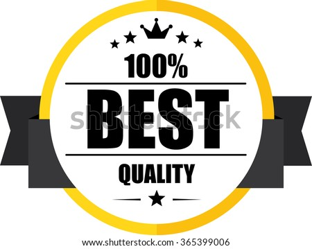 100% Best quality guarantee yellow, Button, label and sign. - stock photo