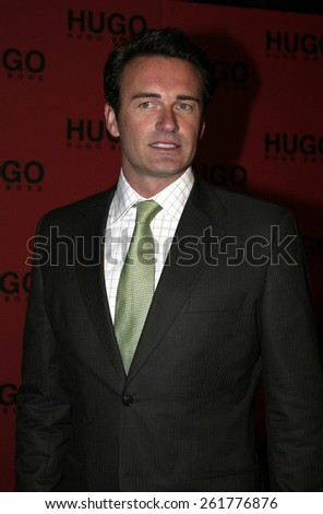 03/15/2005 - Beverly Hills - Julian McMahon at the Hugo Boss Fall Winter 2005 Men's and Women's Collections Party and Fashion Show - Arrivals at The Beverly Hills Hotel. - stock photo