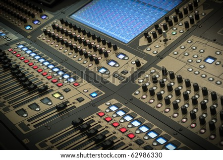 Big Mixer on a stage during a sound check