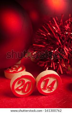 2014 bingo numbers - stock photo
