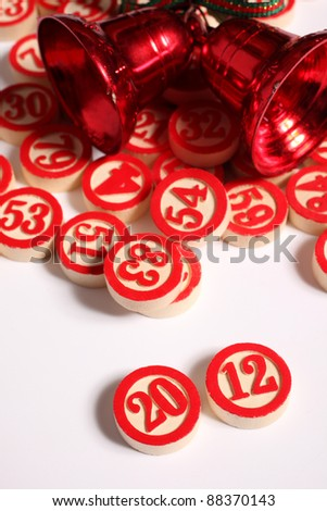 2012 - bingo numbers on white background