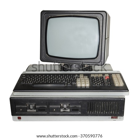 8-bit personal computer. Production Years 1984-1989 - stock photo