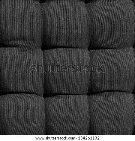 black fabric cushion - stock photo