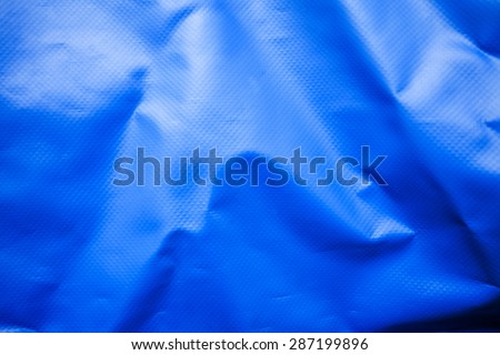 Blue silicone fabric texture for Waterproof bag production - stock photo