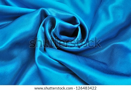 blue silk - stock photo