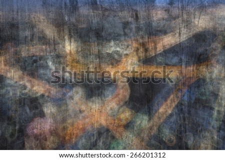 """""""Bokeh city"""" The  painting  concept - stock photo"""