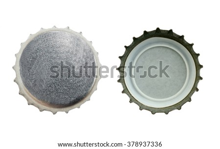 bottle cap isolated on white background with clipping path - stock photo