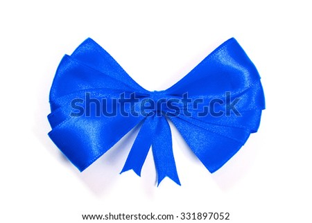 bow isolated over white background