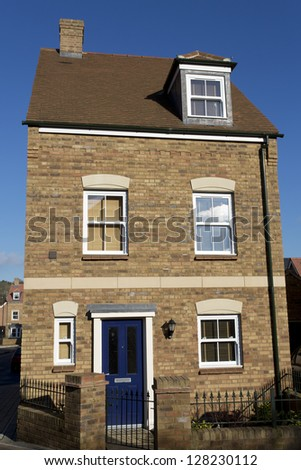 Brand new detached townhouse - stock photo