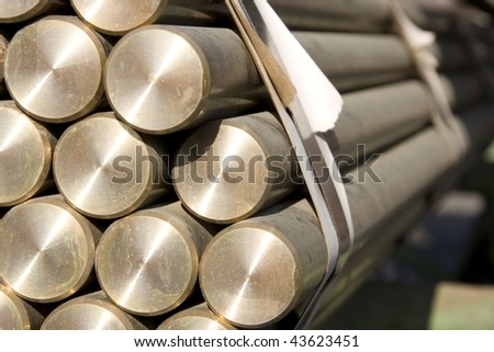 brass  background - stock photo