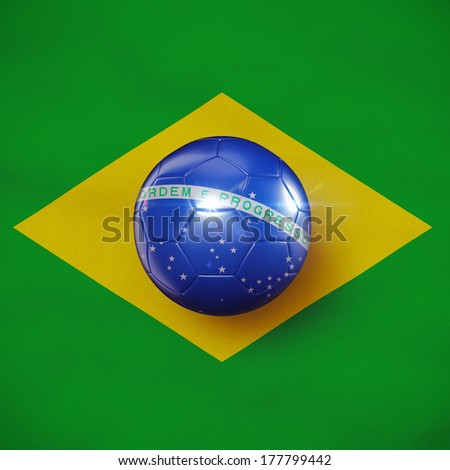 Brazilian football concept - stock photo