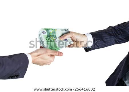 Bribe concept - stock photo