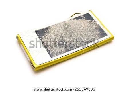 broken touchscreen   - stock photo