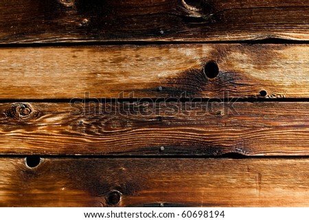 brown wood texture with natural patterns - stock photo