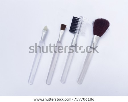 brushes for makeup isolated white background