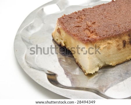 Budin bread isolated on white background - stock photo