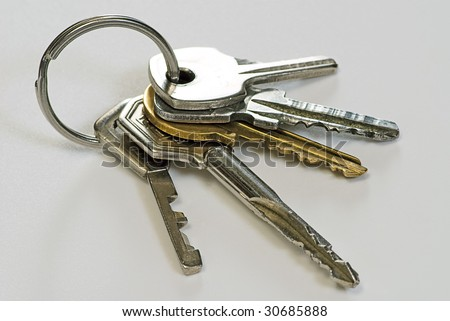 bunch key on a  white