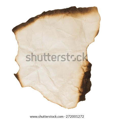 burnt paper for background - stock photo