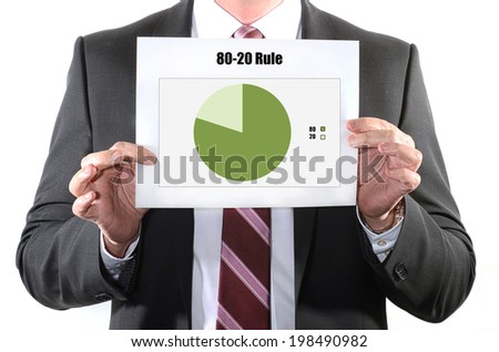80 20 business concept - stock photo