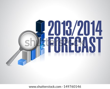 2013 2014 business forecast concept illustration design over white - stock photo